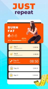 Burn fat workout in 30 days. HIIT training at home تصوير الشاشة 2