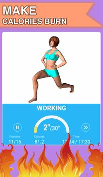 Burn fat workout in 30 days. HIIT training at home screenshot 3
