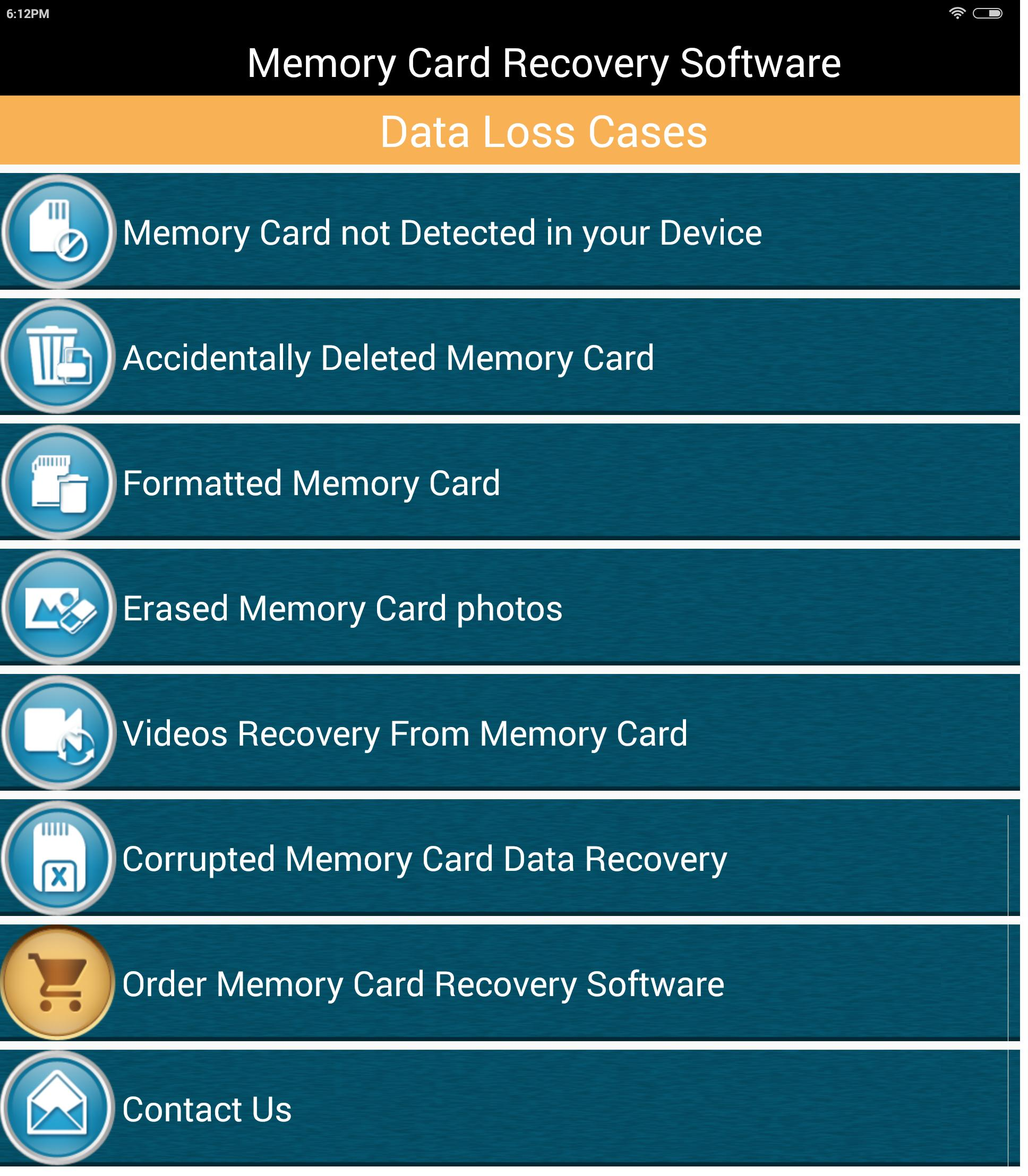 Memory Card Recovery Software for Android - APK Download