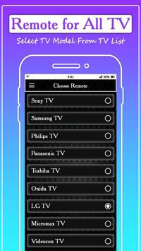 Remote for All TV: Universal Remote Control screenshot 2