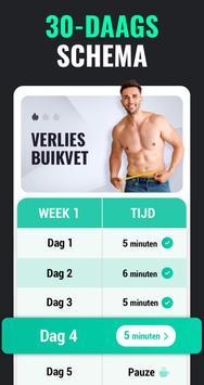 Afvallen in 30 Dagen Mannen - Fitness Oefeningen screenshot 1