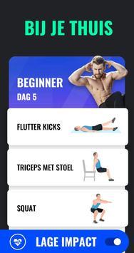 Afvallen in 30 Dagen Mannen - Fitness Oefeningen screenshot 2