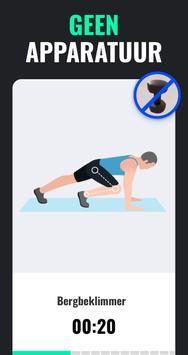 Afvallen in 30 Dagen Mannen - Fitness Oefeningen screenshot 3
