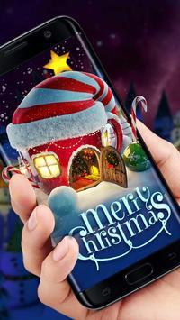 3D Merry Christmas Santa theme poster