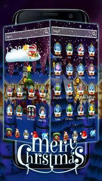 3D Merry Christmas Santa theme screenshot 1