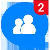 Mensajes, mensajes de texto y video chat gratis icono