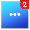 Icona Messenger per messaggi, chat di testi e videochat