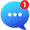 Messenger Go para mídias sociais, mensagens, feed ícone