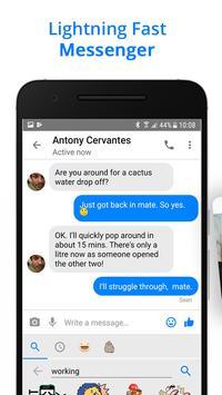 Messenger Go for Social Media, Messages, Feed 截圖 1