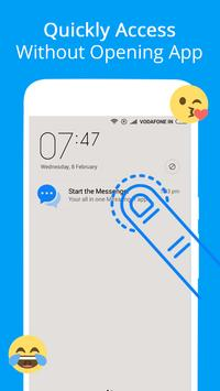 Mensajes, mensajes de texto y video chat gratis captura de pantalla 2