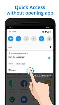 Messenger Go for Social Media, Messages, Feed 截圖 7
