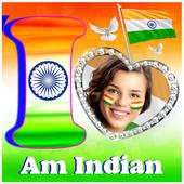 Indian Flag Alphabet Letter Photo Frame icon