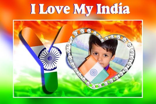 Indian Flag Alphabet Letter Photo Frame screenshot 3