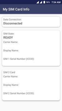 My SIM Card Info poster