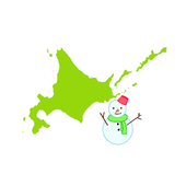 Hokkaido snow removal information icon