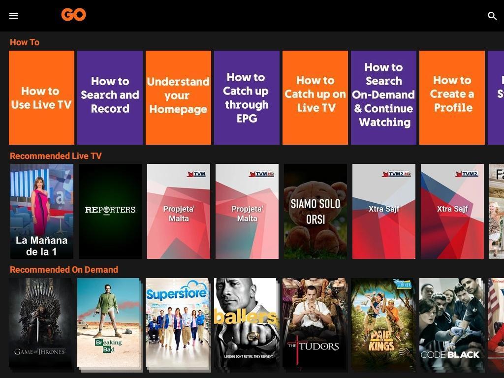 GO TV para Android - APK Baixar