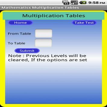 Maths Multiplication Table screenshot 4