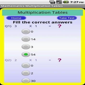 Maths Multiplication Table screenshot 3
