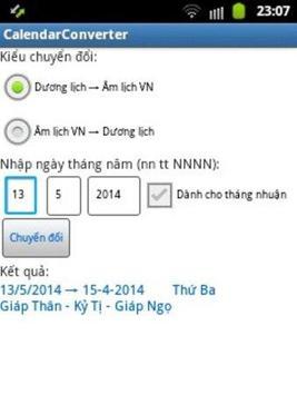Calendar Converter Widget screenshot 1