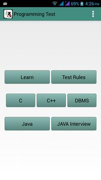 Programming Test poster