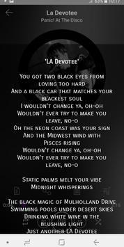 Panic! At The Disco  - songs with lyrics screenshot 2