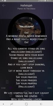 Panic! At The Disco  - songs with lyrics screenshot 3