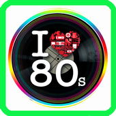 Music Eighties, songs and hits icon
