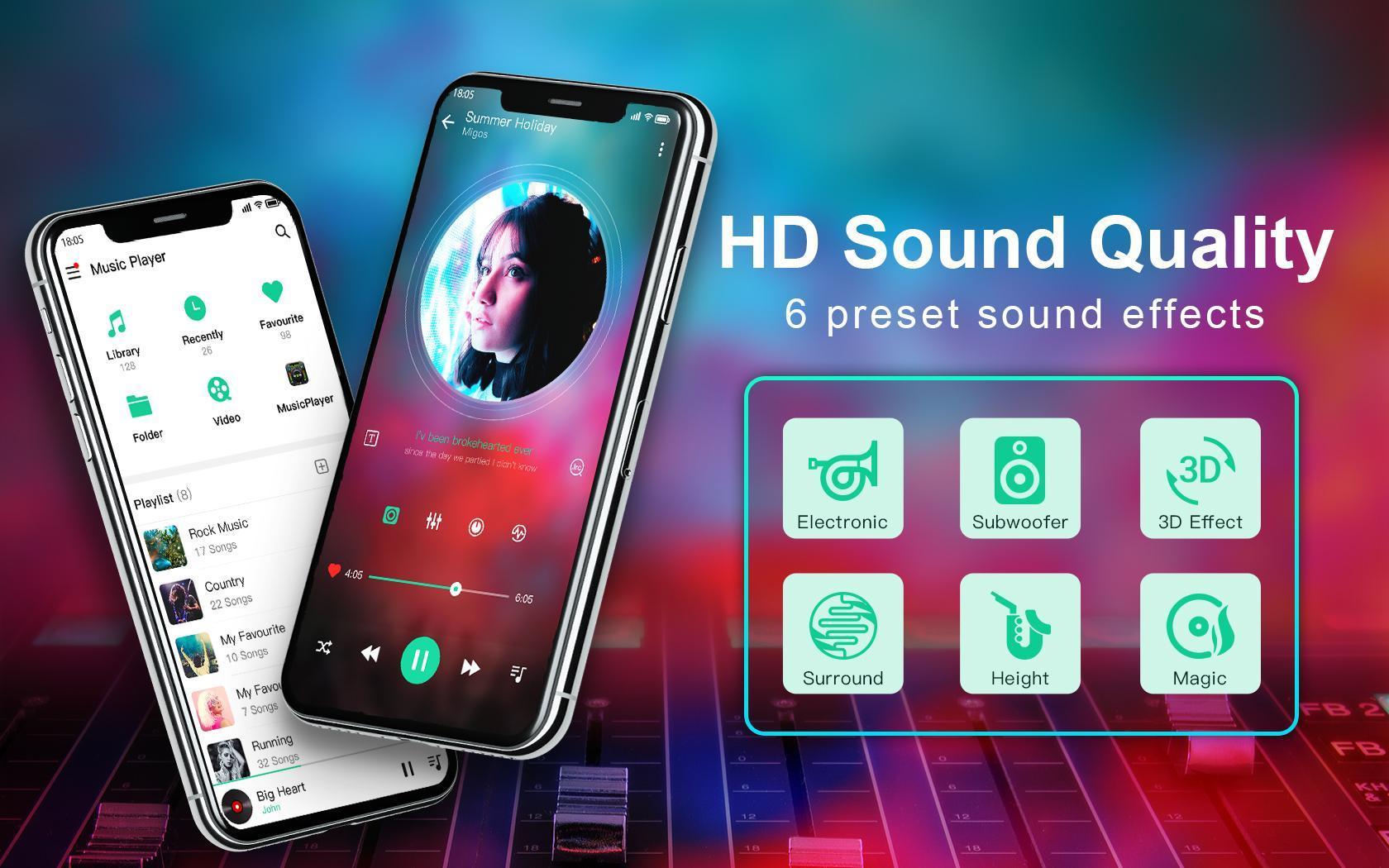Android için Müzik çalar ve ekolayzır ile Video oynatıcı - APK'yı İndir