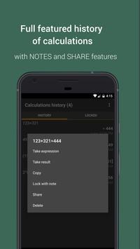 Mobi Calculator free & AD free! تصوير الشاشة 4