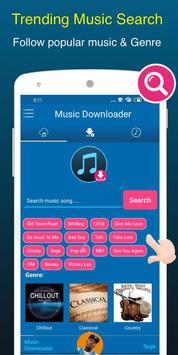 Free Music Downloader + Mp3 Music Download Songs Affiche