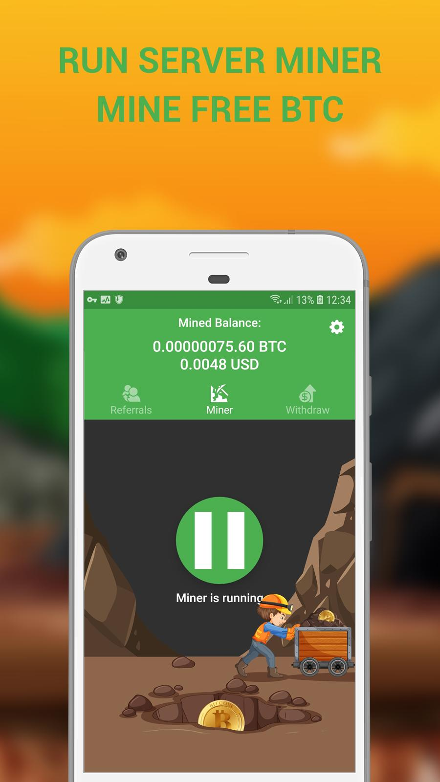 cryptocurrency mining app for android