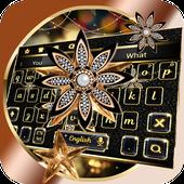 Black Diamond Flower Keyboard icon