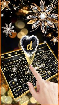 Black Diamond Flower Keyboard poster