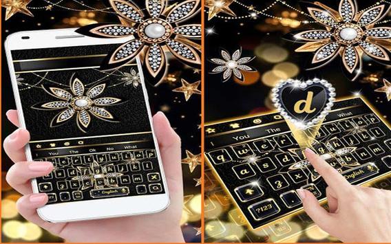 Black Diamond Flower Keyboard screenshot 1
