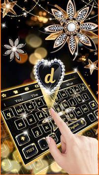 Black Diamond Flower Keyboard screenshot 2