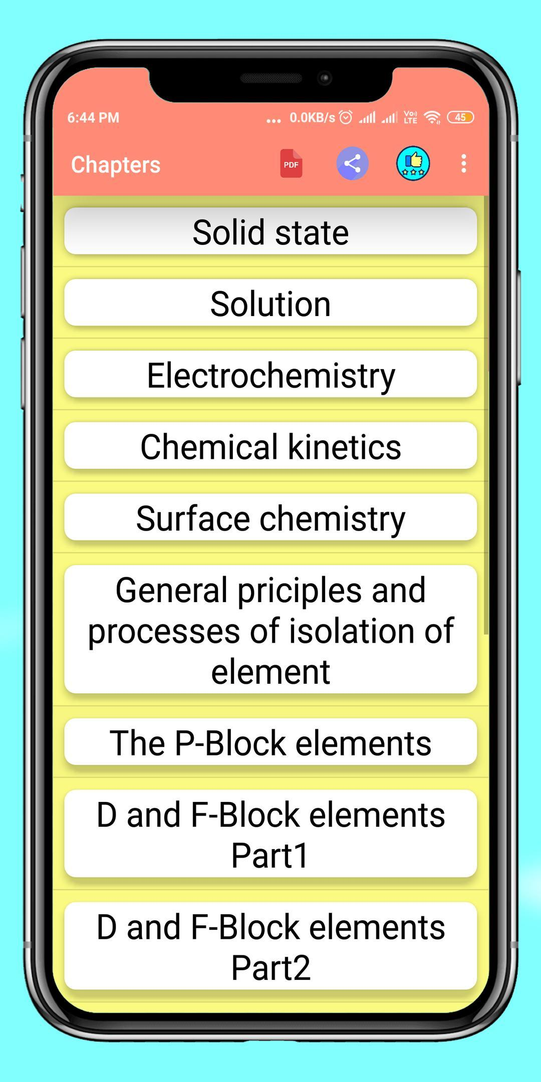 Chemistry Preparation Class 12 for Android - APK Download