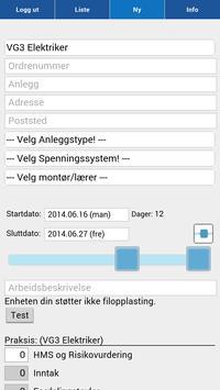 Praksisloggen screenshot 2