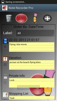 Note Recorder Pro screenshot 1