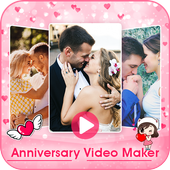 anniversary Video Maker With Song & Music icon