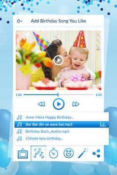 Birthday Video Maker With Song screenshot 2