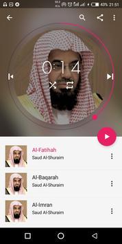Saud Al-Shuraim Complete Quran poster