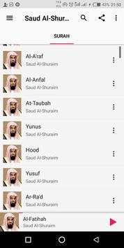Saud Al-Shuraim Complete Quran screenshot 1