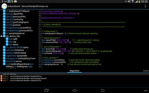 ArduinoDroid capture d'écran 8
