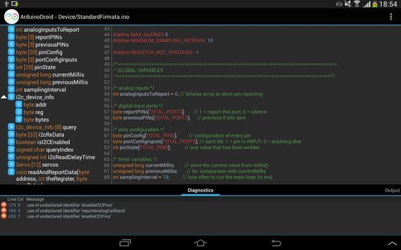 ArduinoDroid capture d'écran 9