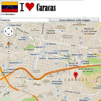 Caracas map poster