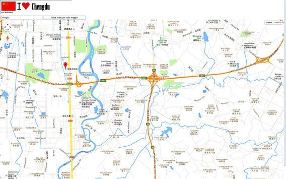 Chengdu map poster
