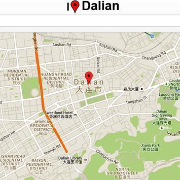 Dalian Map poster