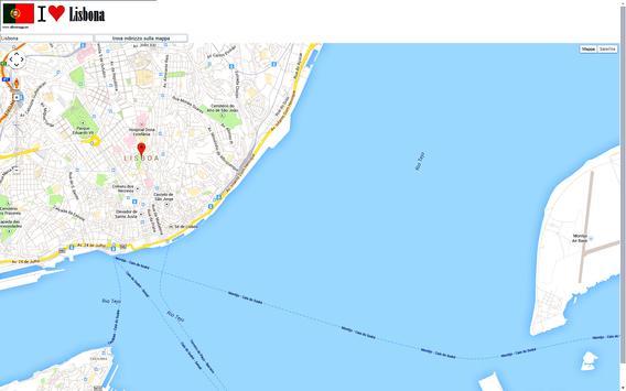 Lisbon map poster