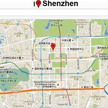 Shenzen Map poster