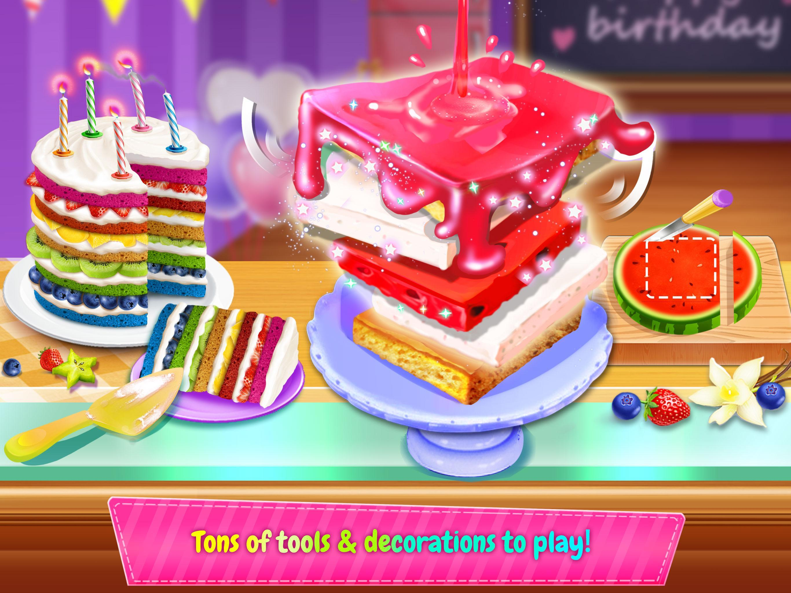 Cool Birthday Cake Design Party Bake Decorate Eat For Android Funny Birthday Cards Online Benoljebrpdamsfinfo